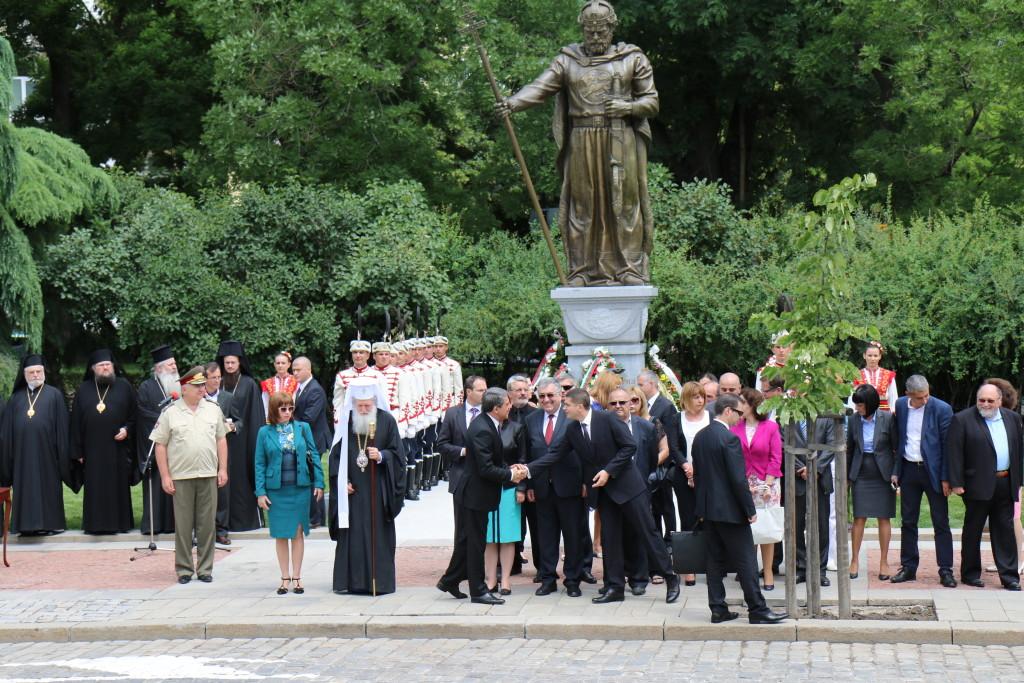 Официално откриване на паметника на Цар Самуил (997-1014) в София, 8 юни 2015 г.