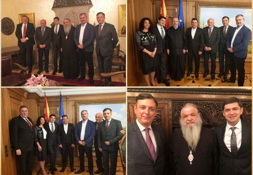 Д-р Врабевски се срещна с премиера Зоран Заев и висшето духовенство на Македония