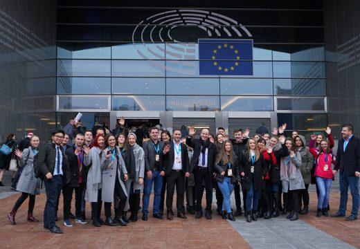 Младежи от Македония посетиха Европейския парламент в Брюксел с подкрепата на ФБП